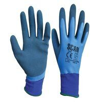 Waterproof Latex Gloves - M (Size 8)