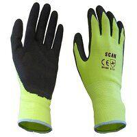 Hi-Vis Yellow Foam Latex Coated Gloves - XXL (Size 11)