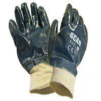 Nitrile Knitwrist Heavy-Duty Gloves