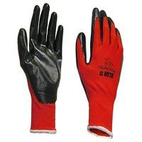 Palm Dipped Black Nitrile Gloves - XXL (Size 11)