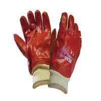PVC Knitwrist Gloves - L (Size 9)