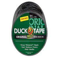 Duck Tape® Original 50mm x 50m Black (Twin Pack)