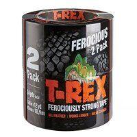 T-REX® Cloth Tape 48mm x 10.9m Graphite Grey Twin Pack