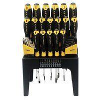 Screwdriver Set in Rack, 44 Piece SL/PH/PZ/TX