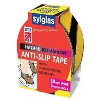 Anti-Slip Tape 50mm x 3m Black & Yellow Hazard