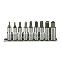 M1212 Socket Clip Rail Hex Set of 9 Metric 1/2in D...