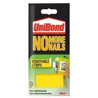 No More Nails Removable Pads 19mm x 40mm (Pack of 10)