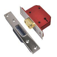 StrongBOLT 2103S 3 Lever Mortice Deadlock Stainles...
