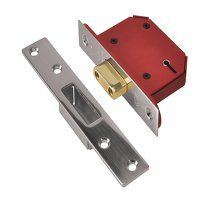 StrongBOLT 2105S Stainless Steel 5 Lever Mortice D...