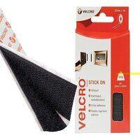 VELCRO® Brand Stick On Tape 20mm x 1m Black