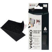 VELCRO® Brand Heavy-Duty Stick On Strips (2) 50 x 100mm Black