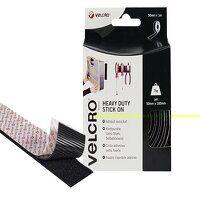 VELCRO® Brand Heavy-Duty Stick On Tape 50mm x 1m Black