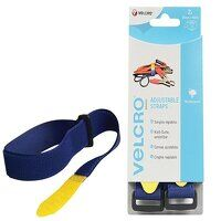 VELCRO® Brand Adjustable Straps (2) 25mm x 46cm Bl...