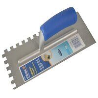 Notched Adhesive Trowel Square 10mm Soft Grip Handle 11 x 4.1/2in