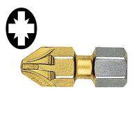 Pozidriv 3pt Titanium Coated Screwdriver Bits 25mm...