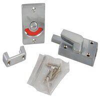 Indicator Bolt for Bathrooms or W.C Doors Satin Chrome P127