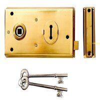 P401 Rim Lock Grey Finish 138 x 76mm Vis...