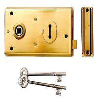 P401 Rim Lock Polished Brass Finish 138 ...