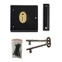 P402 Rim Lock Black Finish 102 x 76mm Vi...