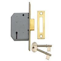 PM322 3 Lever Mortice Deadlock Polished Brass 79mm...