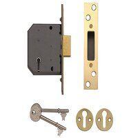 PM552 5 Lever Mortice Deadlock 80mm 3in Polished B...