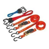 TD285SBD Sealey 6pc Tie Down & Bungee Co...