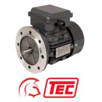 TEC 0.55kW Flange Mount 1500pm 4 Pole Cap Run/Perm Cap 1ph Electric Motor