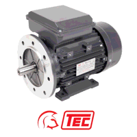 TEC Electric Motor 3kW 1ph Cap/Cap 240V 4 Pole Fla...