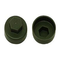TechFast Cover Cap Olive Green 19mm (Pack 100)