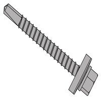 TechFast Roofing Sheet to Steel Hex Screw & Washer No.3 Tip 5.5 x 100mm Box 100