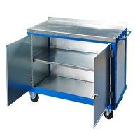 Tool Trolley - Two Cupboards with Castors (1050SCCT)