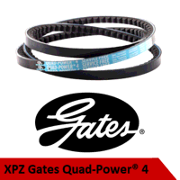 XPZ1612/3VX637 Gates Quadpower4 Cogged V Belt (Ple...