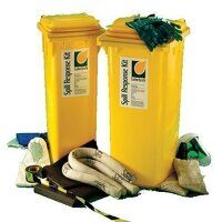 2 wheeled chemical spill response bin 24...