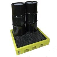 4-drum all weather poly spill pallet 31-1139