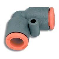 2L21001 4mm Tube Dia Equal Elbow - Technopolymer