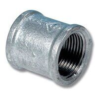 GFS1 1inch BSP Equal Female Socket - Galvanised Fi...