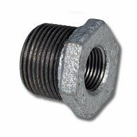 MI241-12-14 1/2inch x 1/4inch BSP Male/Female Reducing Bush - Galvanised Fitting