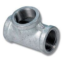 MI130-4 4inch BSP Equal Female Tee - Galvanised Fitting
