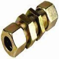 K38-S 38mm Straight Bulkhead Connector - Heavy Duty