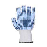 Fingerless polkadot glove (WhBlu / Large / R)