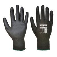 PU Palm Glove (12 Pack) (Black / XSmall / R)
