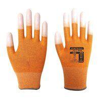 Antistatic PU Fingertip Glove (Orange / XSmall / R)