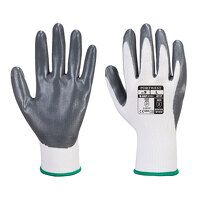 Flexo Grip Nitrile Glove (GreyWh / Large / W)