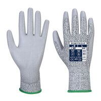LR Cut PU Palm Glove (Grey / Small / R)