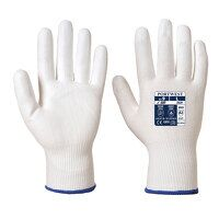 LR Cut PU Palm Glove (WhWh / Small / R)