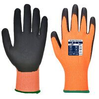 Vis-Tex Cut Resistant Glove - PU (OrBk / Small / R...