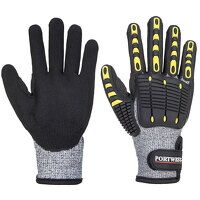 Anti Impact Cut Resistant Glove (GreyBk / Large / ...