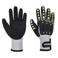 Anti Impact Cut Resistant Thermal Glove (GreyBk / ...