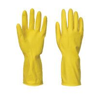 Household Latex Gloves (240 Pairs) (Yellow / Large / R)