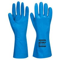Food Approved Nitrile Gauntlet (Blue / X...